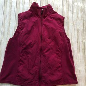Columbia raspberry colored vest